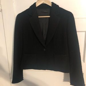 Elie Tahari Black Tweed Blazer